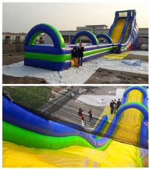 Outdoor inflatable slip and slide for kids