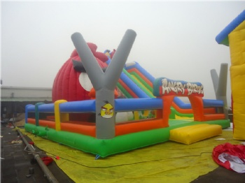 outdoor angry bird inflatable park for kids