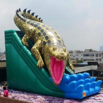 Inflatable crocodile and Dragon slide for sale