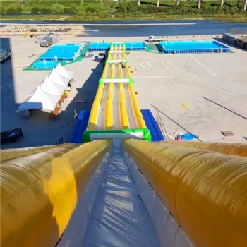Giant Slide 1.5mD Metal Post Swim Pool Park