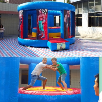 The Gradiator arena and boxing ring inflatable