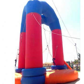 Movable bungee jumping inflatable