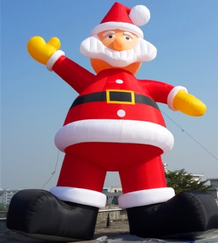 10m inflatable Santa Claus for Christmas holiday decoration