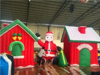 Inflatable Santa house for Christmas