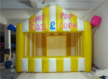 Inflatable candy booth kiost for resort and city street