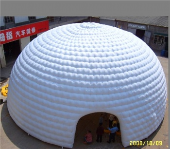 White Inflatable sealed dome tent Germany