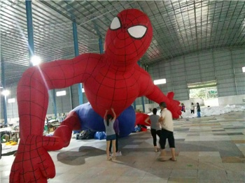 inflatable cartoon model spiderman and American Capitain