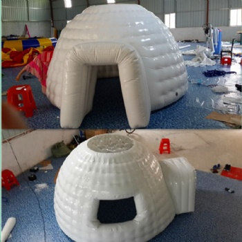 inflatable igloo fort or club house for kids to play in