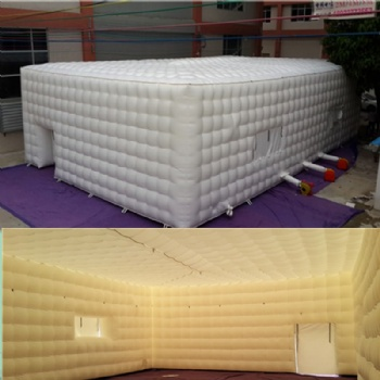 White Inflatable Cube Tent For Event