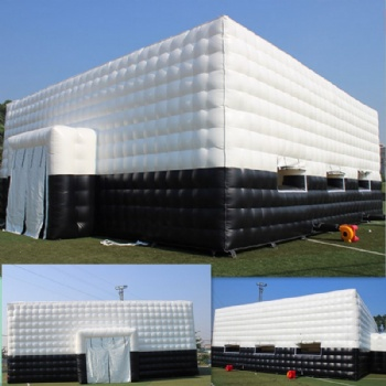 White Square Inflatable Music Dance Bar Tent For Events