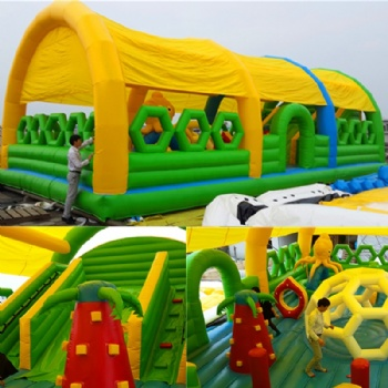 Chrldren Outdoor Inflatable Fun Land With Roof