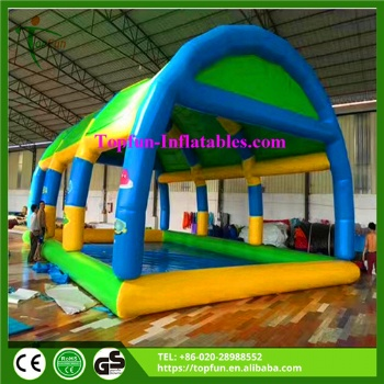 PVC Inflatable Square Water Pool With Cover