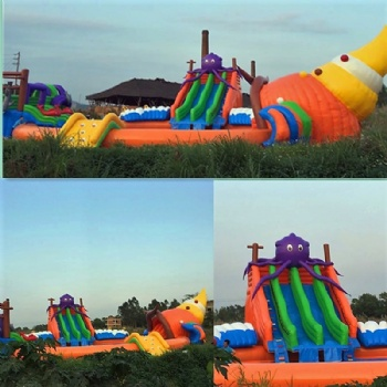 Giant Inflatable Octopus water pool slide Park