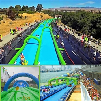 300m double lanes Slip N Slide The City Inflatable