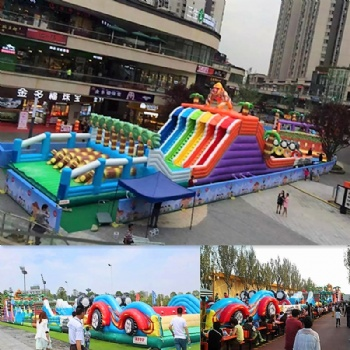 The King Kong Inflatable Forest Adventure Obstacle