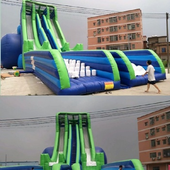 Exciting Inflatable long slip slide adventure